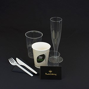 Disposable coffee cups. 25 cl. 40 pieces.