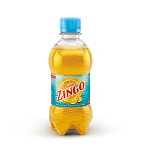 Zingo 33 cl PET. Delivered chilled in packs of 24 pet.